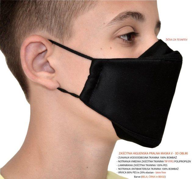 Zaščitna maska PNF2-3D črna